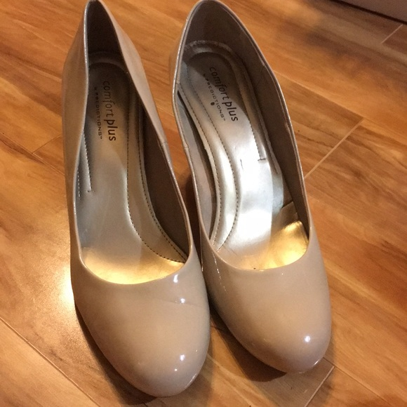 e418c8300f3 comfort plus by Predictions Shoes - Payless Comfort View Nude Patent Heels  size 12